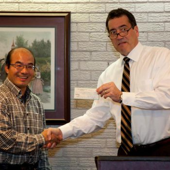 Dan Fritts Receives Donation For Camp Eagle Ridge