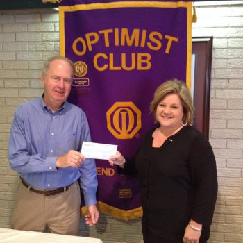 Mark Scarborough Receives A Donation To A Charity Of His Choice Presented By President Cindy White