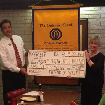 Former President Dan Derrington Presents MLT Donation To Sidney Covington