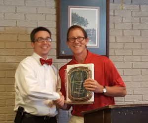President Brian Koroknay Presents Friend Of Youth Award To Scott Gray