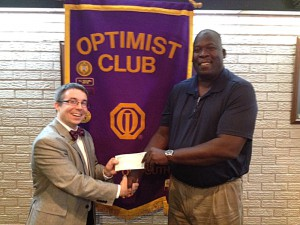 DTOC President Brian Koroknay Presents a check to BGC Director Ricky Hood
