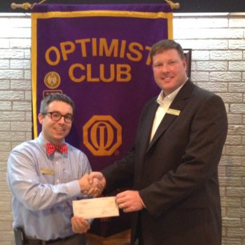 DTOC President Brian Koroknay Presents A Check To Neil Henry Of TOPSoccer