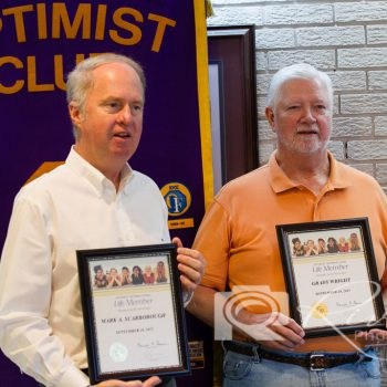 LtoR: Life Members Mark Scarborough & Butch Wright