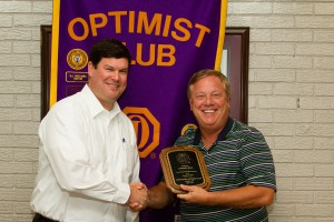 DTOC President Daniel Stewart Presents Award To Lindsey Hall