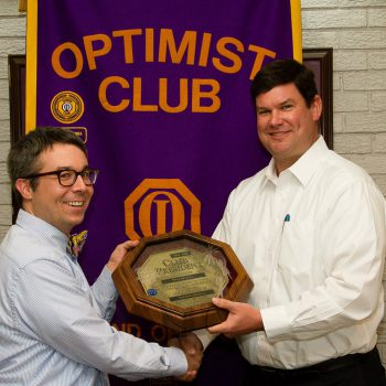 Brian Koroknay Presented With 2014-2015 President's Plaque