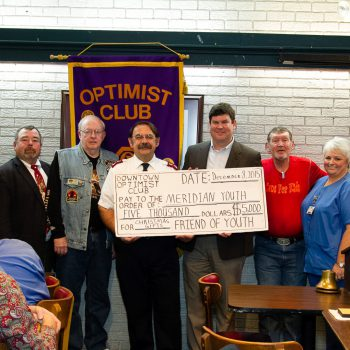 2016 DTOC President Daniel Stewart Presents Donations To Local Organizations