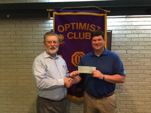 DTOC President Daniel Stewart Presents A Check To James W. Rainey, Newspapers In Education