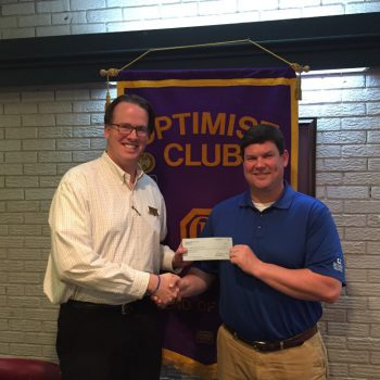 DTOC President Daniel Stewart Presents A Check To Tyler Walton, MS Scholars Program