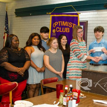 DTOC President Daniel Stewart Presents A Check To The NE Lauderdale FBLA Students