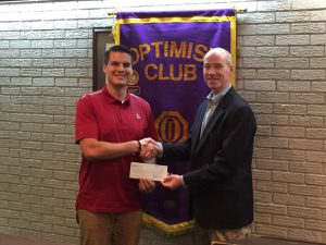 DTOC President Lee Thaggard Presents FCA Area Director Jonathan Fulcher With Donation