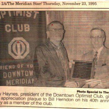 Bill Herndon 40 Years