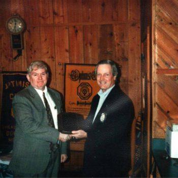 Charlie Smiley Gets Award 1995