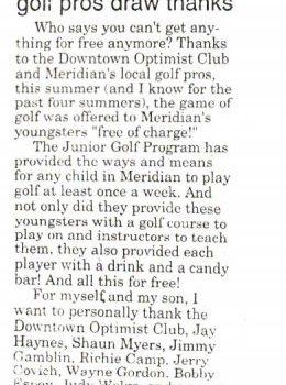 Dtoc Golf Pros Draw Thanks 1997