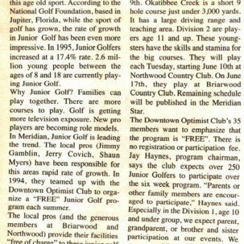Junior Golf Explosion