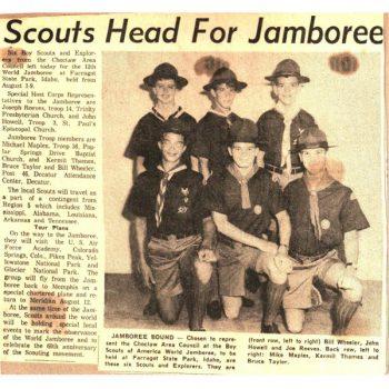 Scouts Head To Jamboree 1967
