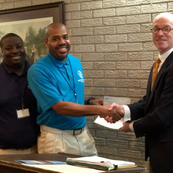 DTOC President Lee Thaggard Presents A Donation Check To BGC Director Of Operations, Jermaine Harris And Unit Manager, Torion Emerson. Photo By Randy Rives