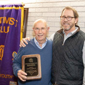 DTOC Vice President Scott Gray (r) Presents FOY Award To Robert E. Parker, Jr. (l)