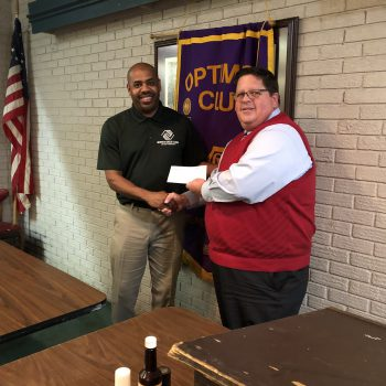 DTOC President Lee Thaggard Presents A Donation Check To BGC Director Of Operations, Jermaine Harris. Photo By Randy Rives